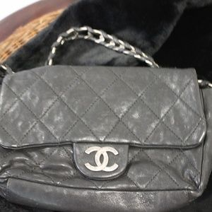 Chanel Black Classic Leather Bag